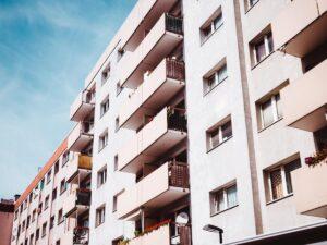 exterior view of condominium building
